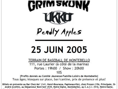 Rockfest 2005 - Affiche originale / Poster Original Print *RARE main photo