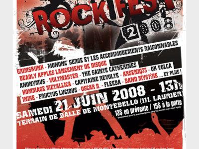 Rockfest 2008 - Affiche originale / Poster Original Print *RARE main photo