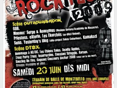 Rockfest 2009 - Affiche originale / Poster Original Print *RARE main photo