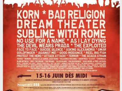 Rockfest 2012 - Affiche originale / Poster Original Print *RARE main photo
