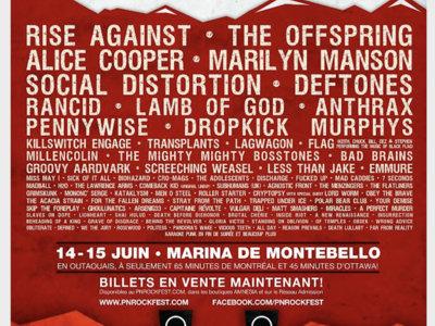 Rockfest 2013 - Affiche originale / Poster Original Print *RARE main photo