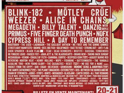 Rockfest 2014 - Affiche originale / Poster Original Print *RARE main photo
