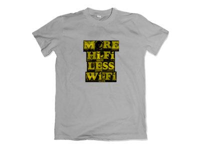 More Hifi Less Wifi design - Grey T-Shirt main photo
