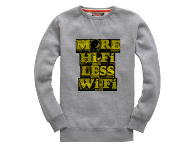 Limited Edition - More Hifi Less Wifi - Grey Jumper (includes In The Viper's Shadow album download) main photo