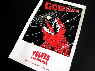 La sérigraphie Godzilla 3000 main photo