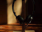 Wooden headphone stand / desktop or wall photo