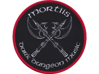 White with Red Dark Dungeon Music Woven Patch main photo
