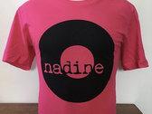 Nadine Records T-shirt (Black Ink on Hot Pink Shirt) photo