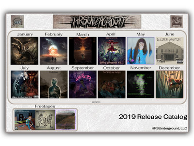 """2019 HRS Release Catalog - Large Poster 11"""" x 17"""" main photo"""