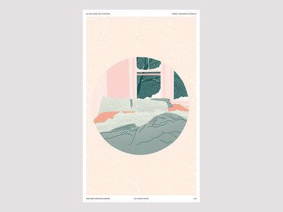 """Affiche/Print """"LES VIEUX CHATS"""" par Daphnée Brisson-Cardin main photo"""