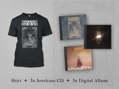 "Arbulubra BUNDLE: Black Shirt ""Tree"" +  3x Jewelcase CD (MMXIX, II, III) + 3x Digital Album (MMXIX, II, III) main photo"