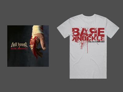 CD & T-shirt Bare Knuckle Logo White main photo