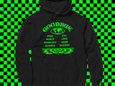 Green On Black 'Goodbye' Hoodie main photo