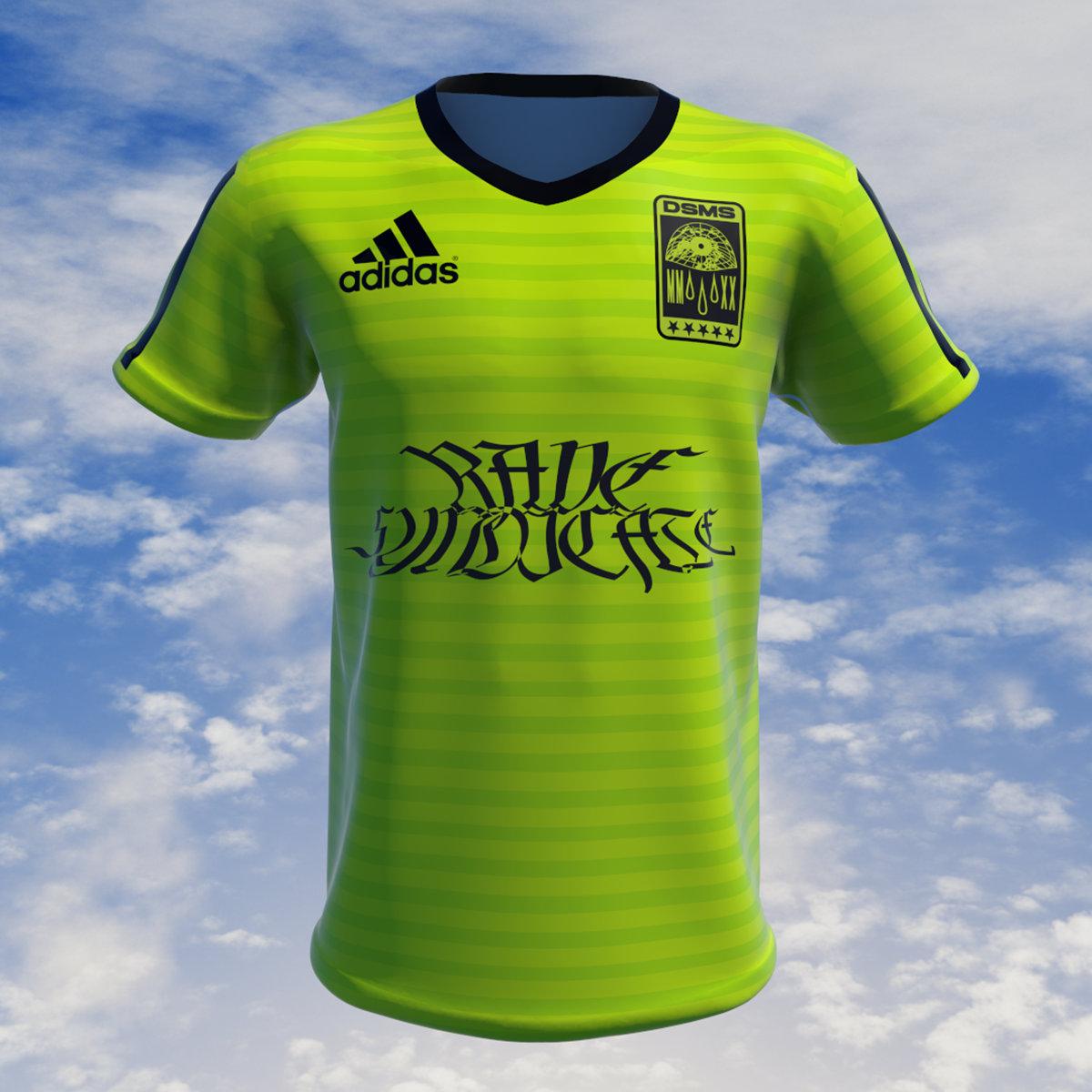 DSMS Rave Syndicate Adidas Climalite Jersey Neon   Deep Sea Mining ...
