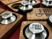 "First Word 7"" Middles (pair) + wooden carrying case photo"