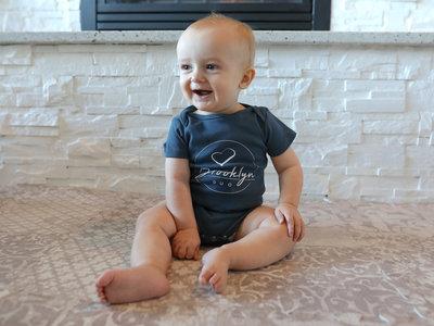 Premium Organic Baby Onesie (Blue) main photo