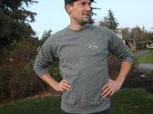Premium Raglan Crew Sweatshirt (Nickel Color) photo