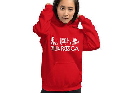 Unisex Red Zilla Rocca Logo Hoodie main photo