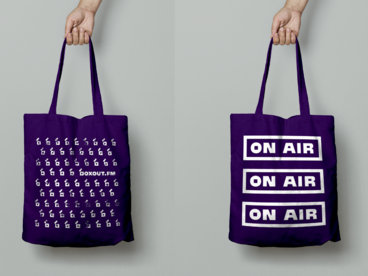 boxout.fm on air (white on purple) main photo