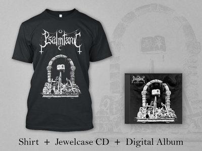 "Psalmtanic BUNDLE: Black Shirt ""Gate"" + Jewelcase CD + Digital Album ""Psalmtanic Verses"" main photo"