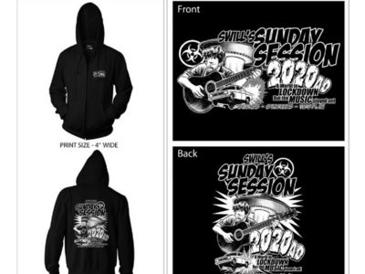 Swill's Sunday Session Zipped Hoodie - front & back print main photo