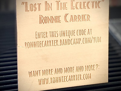 """""""Lost in the Eclectic"""" Laser Engraved Wooden Download Card (Limited Edition) main photo"""
