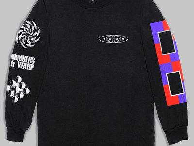 Numbers + Warp Long-sleeve T-Shirt (Black - Reprint) [Shipping now] main photo