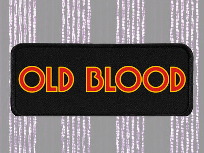 "OLD BLOOD Embroidered 5"" x 2"" Logo Patch main photo"