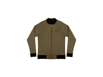 Olive Green Curious Automata Embroidered Lightweight Bomber Jacket main photo