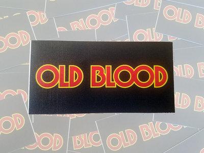 "OLD BLOOD 4"" x 2"" Logo Sticker main photo"