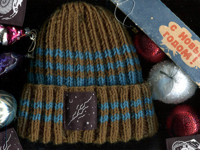 Hand-knitted beanie main photo