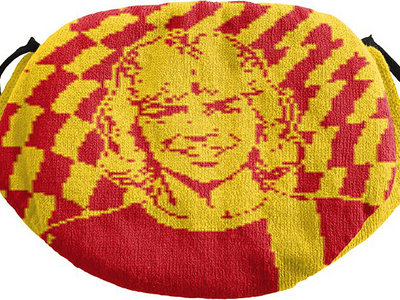 Roy of The Ravers cotton knit face mask (RED/YELLOW) main photo