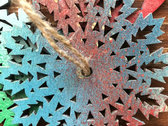 Spraypainted Wooden Holiday Ornament photo