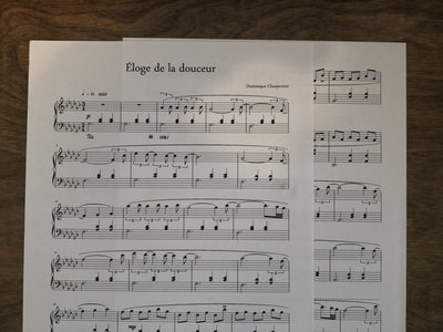 """""""Éloge de la douceur"""" Piano Sheet main photo"""