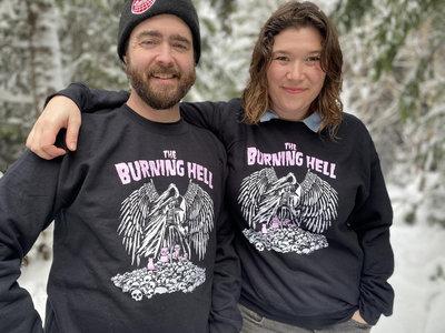 Cozy Grim Reaper & Pink Kitties Sweatshirt main photo