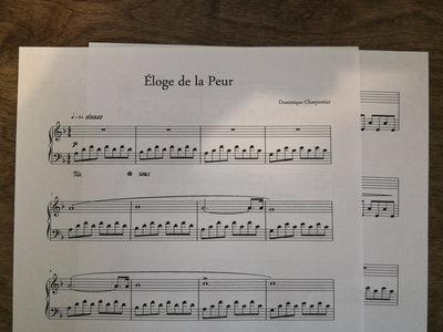"""Éloge de la Peur"" Piano Sheet main photo"