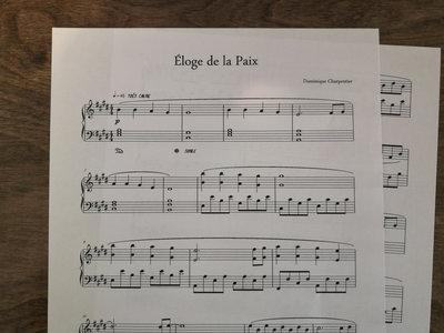 """""""Éloge de la Paix"""" Piano Sheet main photo"""