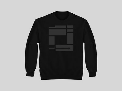 Black Sweatshirt with Charcoal Grey Rupture print (mens & women fit available) main photo