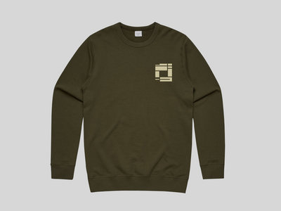 Army Green Sweatshirt with Pale Yellow Embroidery (MENS) main photo