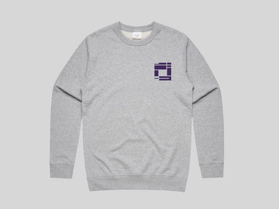 Heather Grey Sweatshirt with Dark Purple Embroidery (MENS) main photo