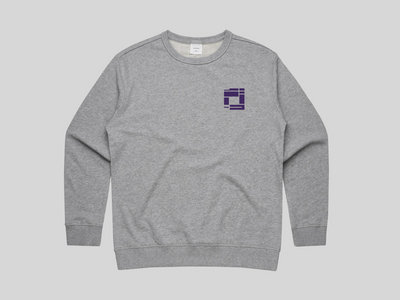 Heather Grey Sweatshirt with Dark Purple Embroidery (WOMENS FIT) main photo
