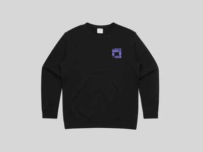 Black Sweatshirt with Bright Purple Embroidery (WOMENS) main photo
