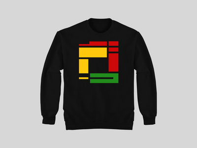 Black Sweatshirt with Red/Yellow/Green Rupture print (mens & womens fit available) main photo