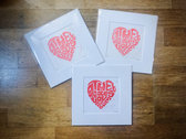 *NEW* 'The Greatest Love Is You' Lyric Lino Print photo