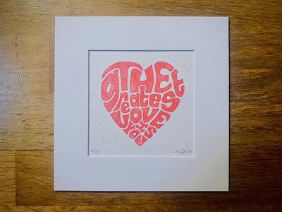 *NEW* 'The Greatest Love Is You' Lyric Lino Print main photo