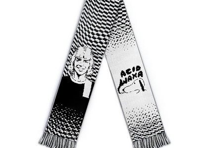 Acid Waxa x Roy of The Ravers knitted scarf (BLACK/WHITE) main photo