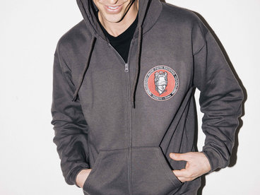 BFR_PATCH LOGO ZIP UP HOODIE ANTHRACITE main photo