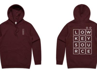 Low Key Source logo Burgundy hoodie main photo