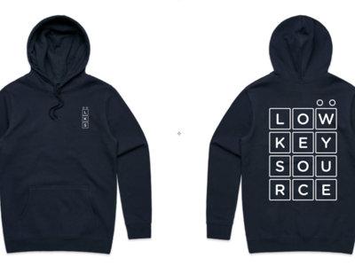 Low Key Source logo Navy hoodie main photo