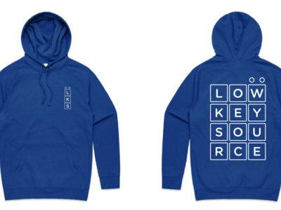 Low Key Source logo Royal Blue hoodie main photo